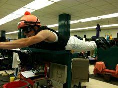 Even real jockeys have inner jockeys - Joe Talamo planking!  vatreni: