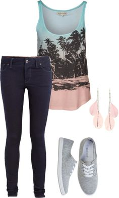 Cute Casual Summer Outfits 2014 find more women fashion ideas on… Summer Outfits 2014, Casual Summer Outfits, Outfits For Teens, Spring Outfits, Outfit Summer, Summer Clothes, Cute Fashion, Look Fashion, Teen Fashion