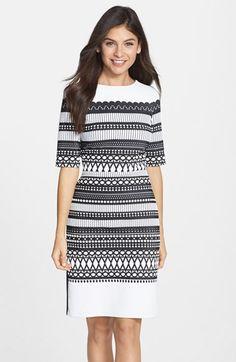 Julia Jordan Geometric Pattern Knit Sheath Dress available at #Nordstrom