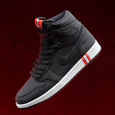 Air Jordan 1 PSG Black / Red Source by davidsimmonsjr fashion style Jordan 1, Jordan Nike, Jordans Sneakers, Air Jordans, Shoes Sneakers, Mens Shoes Jordans, Footwear Shoes, Nike Air Shoes, Air Jordan Shoes