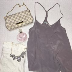 Kimchi Blue Silk Lilac Cami In great condition! Urban Outfitters Tops Blouses