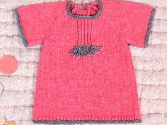 Tricot 2015: Robe bouton de rose