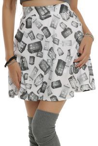Doctor Who Tumbling Tardis Skirt