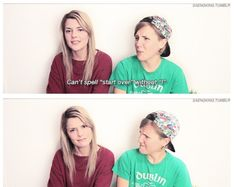 Grace helbig and hannah hart on spelling