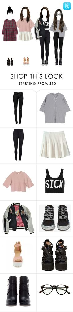 """⇉ 1st V Live Broadcast"" by n0t-official ❤ liked on Polyvore featuring J Brand, River Island, A Day in a Life, Topshop, Isabel Marant, Vans, JY Shoes, Jeffrey Campbell and Zara"