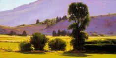SOLD I Morning View I 12x24 I Dix Baines I Fine Artist Original Oil Paintings I Mountains I www.dixbaines.com