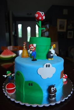 Super Mario Bros Cake by justkist on Cake Central