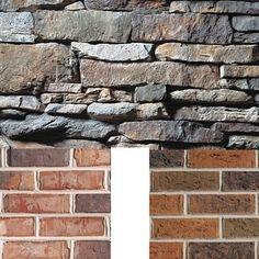 Matching brick with stone