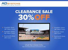 Buy used digital LED displays with AD Systems' Clearance Sale to save up to 30%!