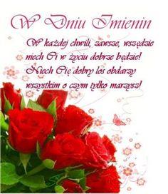 Kartka Najpiękniejsze życzenia imieninowe dla Ciebie | E-kartki.net.pl Birthday Wishes, Happy Birthday, Fb Quote, Crochet Patterns, Tableware, Cards, Aga, Motto, Humor