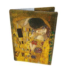 Gustav Klimt - Kiss / Leather passport covers / Free shipping / Young lady print / customization available