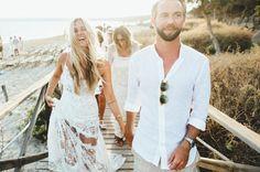 boho hochzeitskleid strandhochzeit-ideen-hippie-damen-braut