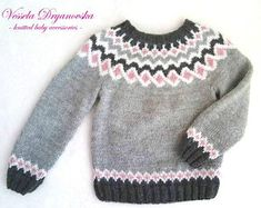 Icelandic Sweater Kids Adults Nordicstyle Knit Pullover Jacquard Handmade