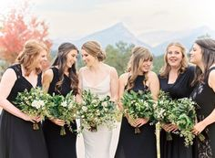 Colorado wedding photographer: Lisa O'Dwyer Colorado wedding planner: Events 306 Colorado Floral Designer: A Florae #coloradowedding #estesparkwedding #coloradofilmweddingphotographer #greenbouquet #mountainwedding #coloradowedding #bridesmaids Read More on SMP: http://www.stylemepretty.com/colorado-weddings/estes-park/2016/02/16/timeless-wedding-in-estes-park-colorado/