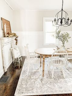 View our web-site for even more pertaining to this extraordinary photo Farmhouse Dining Room Rug, Farmhouse Style Rugs, Carpet Dining Room, Farmhouse Decor, Dining Room Rugs, Boutique, Vintage Inspiriert, Dining Room Inspiration, Rug Inspiration