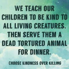 """""""You cannot teach kindness with a mouth full of flesh"""". that is so true. Vegan Marshmallows, Vegan Facts, Vegan Quotes, Why Vegan, Plant Based Nutrition, Vegan Animals, Statements, Vegan Lifestyle, Going Vegan"""