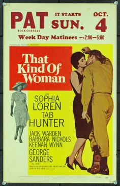 MovieArt Original Film Posters - THAT KIND OF WOMAN (1959) 20620, $35.00 (http://www.movieart.com/that-kind-of-woman-1959-20620/)