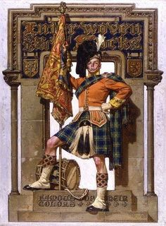 Painting of a scot