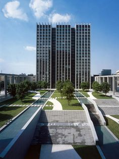 2005 China, Hangzhou-Huanglong  Gong Yuan Building, Office Towers and Press Center, Hangzhou, China - gmp Architekten von Gerkan, Marg und Partner
