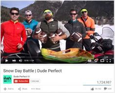 The guys of dude perfect playing snow games!