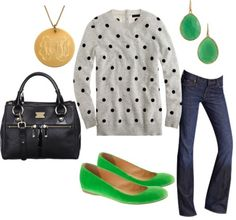 I like this for Fall... Cute polka dots, but in a grown up way :)