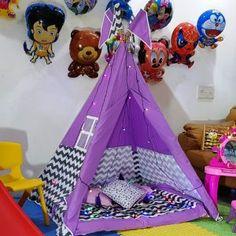 Kids Teepee Tent, Play Tents, Childrens Tent, Bamboo Poles, Little Star, Play Houses, Floor Mats, Mattress, Baby Kids
