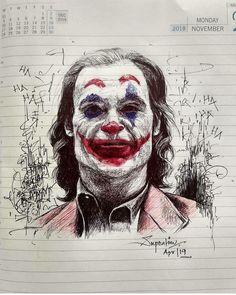 Joker Sketch, Joker Drawings, Joker Images, Joker Pics, Der Joker, Joker Art, Foto Joker, Joker Poster, Creation Art