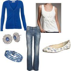 cute outfit - pretty blue sweater