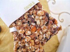 Egészséges müzliszelet házilag – Konyhalál Granola, Cereal, Recipies, Food And Drink, Healthy Recipes, Baking, Breakfast, Kitchen, Recipes