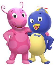 images transparent: Uniqua and Pablo of THe Backyardigans Nick Jr Pablo the Blue Penguin and Uniqua the pink ladybug.?