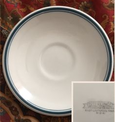 Sterling China Green Stripe Saucer.  No date code.
