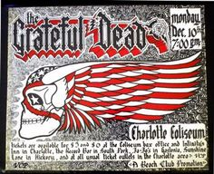 Awesome Grateful Dead poster incorporating the Hells Angels death head.