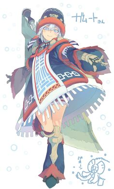 Clothe design anime girl