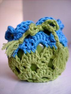 Circle apple cozy - crochet