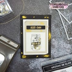 Grüsse im Glas - Stampin' Up! Mp3 Player, Stampin Up, Flowers, Paper Mill, Glass, Home Canning, Birthday, Amazing, Florals