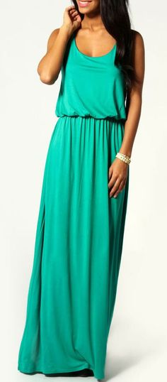 Mint Racer Back Maxi Dress ♥