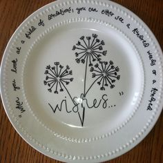 Dollar store plate w/sharpie;bake at 150 for 30 minutes.