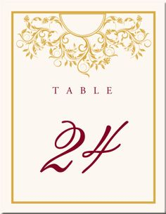 ~Table Numbers Design Idea~