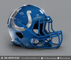 Indianapolis Colts - NFL Concept Helmet by Paul Bunyan Design