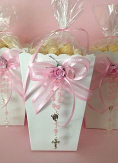 Popcorn Boxes Favor Baptism Favor First by designsbyemilys on Etsy, $9.99