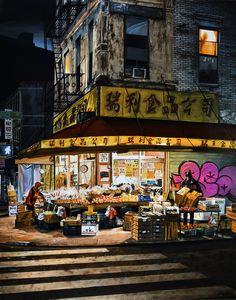 """NEW YORK #82"" By Socrates Rizquez 2020 - Enamels on aluminium painting. Pintado con esmaltes sobre aluminio. 95 x 212 cm. Thanks to my eyes on NYC dylanwaalker. Socrates, Realism Art, Enamel Paint, Saatchi Art, Original Paintings, New York, Enamels, The Originals, City"