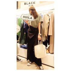 「昨日3/2にリニューアルOPENした うめだ阪急BLACK BY MOUSSYに行ってました☆ ハイウエストの素敵なデニム発見! バングルも可愛いかった ・ 上下  BLACK BY MOUSSY ^ ^ 巻きスカートみたいな ワイドパンツがお気に入り♡ ・ ・ #blkby #BLACKBYMOUSSY…」