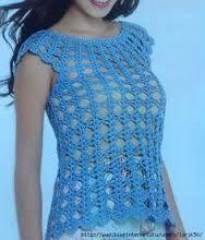 Resultado de imagen para blusas tejidas a crochet con un solo cuadrado