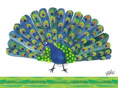 Eric Carle's Peacock - Bugs & Butterflies Canvas Wall Art | Oopsy daisy