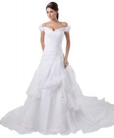GEORGE BRIDE Gorgeous Luxurious Charming Capped Arm Chapel Train Wedding Dress Size 18 Ivory GEORGE BRIDE,http://www.amazon.com/dp/B00E9QOJ4O/ref=cm_sw_r_pi_dp_BNQKsb05SVRH11W0