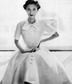 "Wenda Rogerson, Vogue, 1951 From: ""Norman Parkinson: Portraits in Fashion"""
