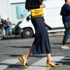 """1,452 Likes, 6 Comments - STYLEBOP.com (@stylebop) on Instagram: """"Here comes the sun - add a flash of sunshine to your everyday look with these golden-yellow Marni…"""""""