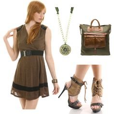 """""""Army Chic"""" by wonderland449 on Polyvore  Seem Robin Hoodish to me"""