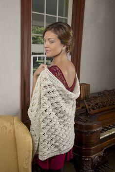 Budding Romance Shawl / Challe idylle naissante Free Knitting Pattern  Downton Abbey Yarn Patterns – Bilingue!   cupofsugar