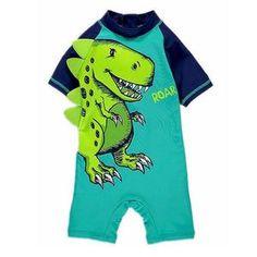 Cap Collager Kids Baby Boys One-Piece UV Protection Rash Gurad Dinosaur Pattern Swimsuit Swimwear